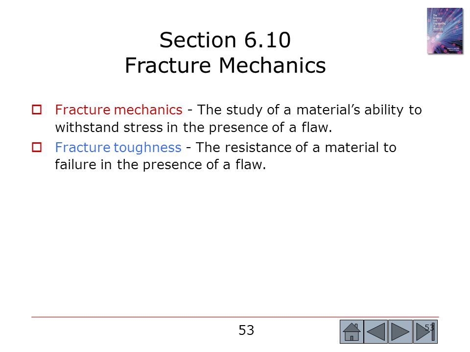 Section 6.10 Fracture Mechanics