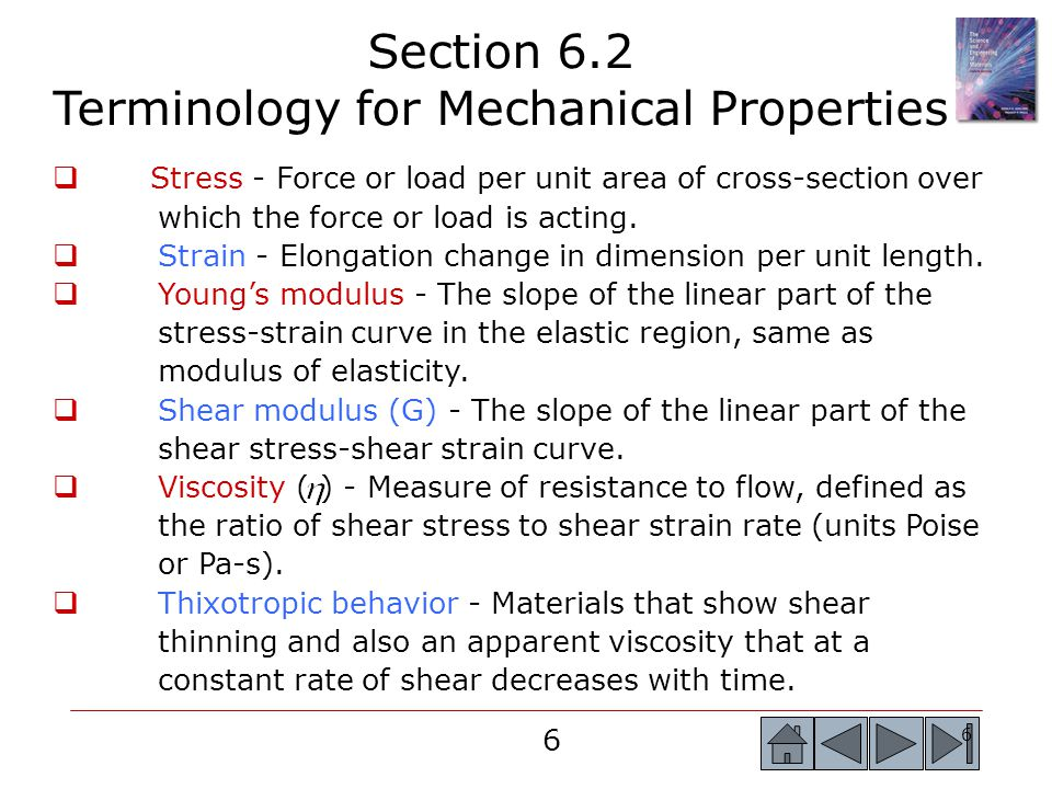 Section 6.2 Terminology for Mechanical Properties