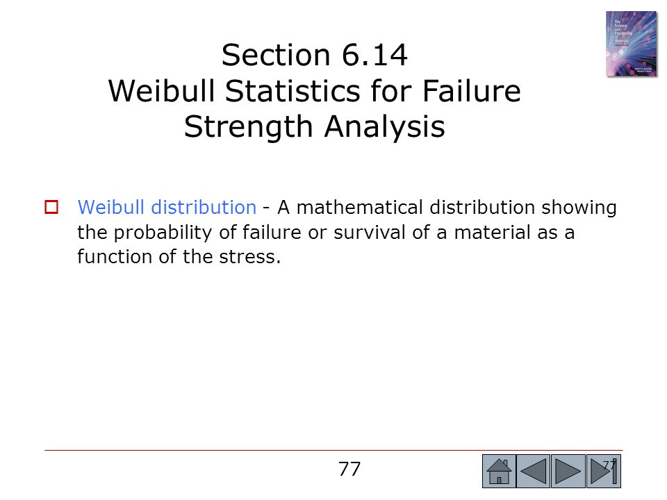 Section 6.14 Weibull Statistics for Failure Strength Analysis