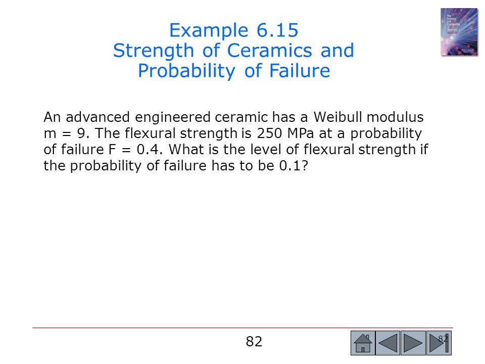 Example 6.15 Strength of Ceramics and Probability of Failure