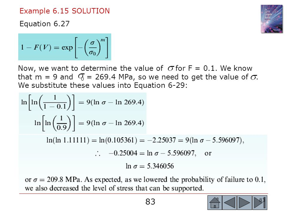 Example 6.15 SOLUTION Equation 6.27.