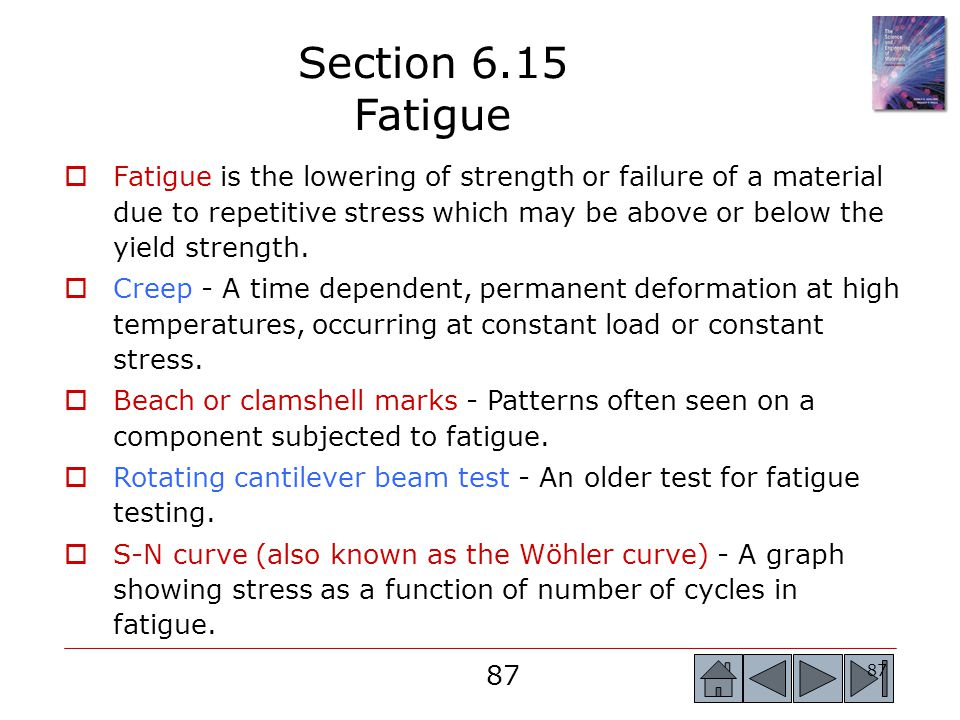 Section 6.15 Fatigue