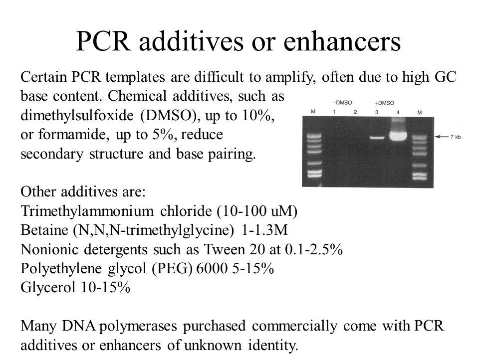 PCR additives or enhancers