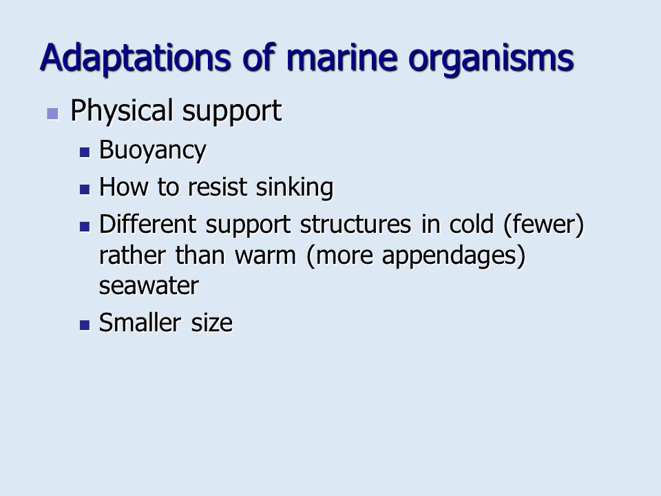 Adaptations of marine organisms