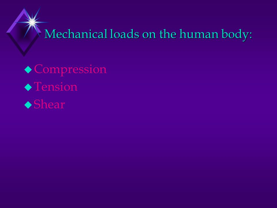 Mechanical loads on the human body: