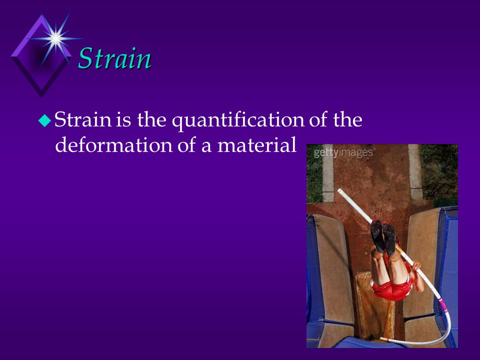Strain Strain is the quantification of the deformation of a material