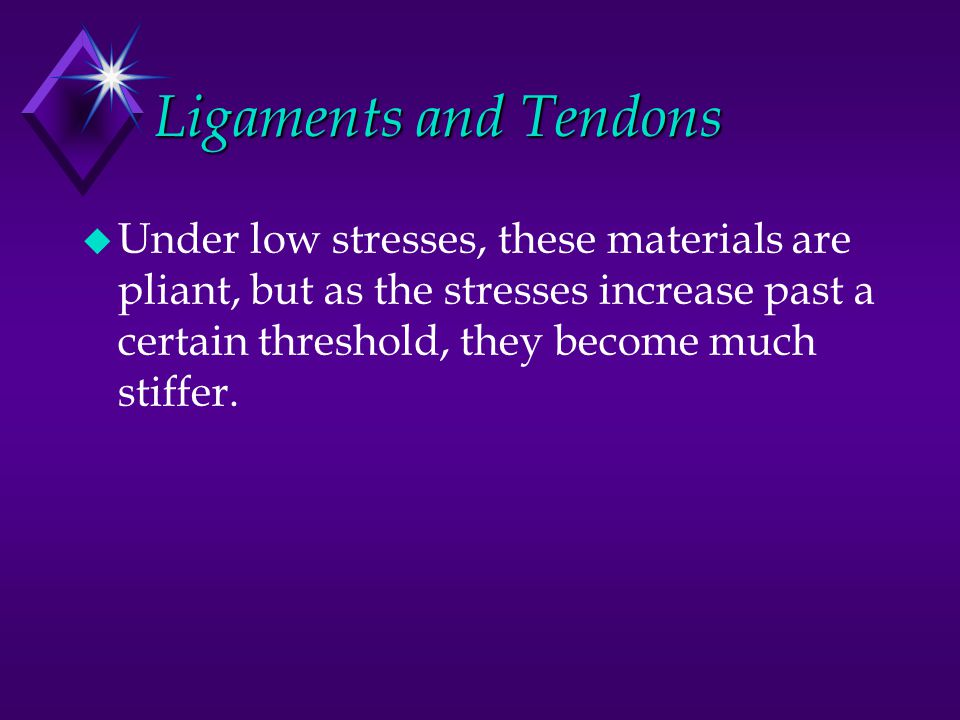 Ligaments and Tendons