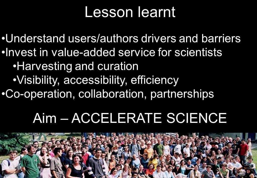 Aim – ACCELERATE SCIENCE