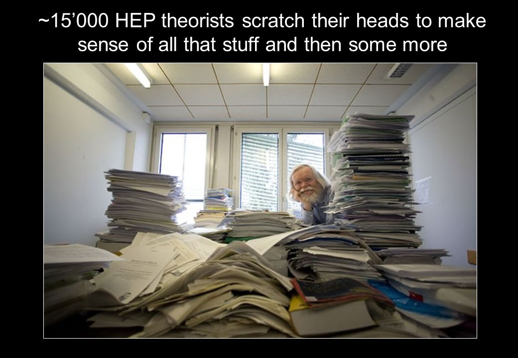 ~15'000 HEP theorists scratch their heads to make sense of all that stuff and then some more