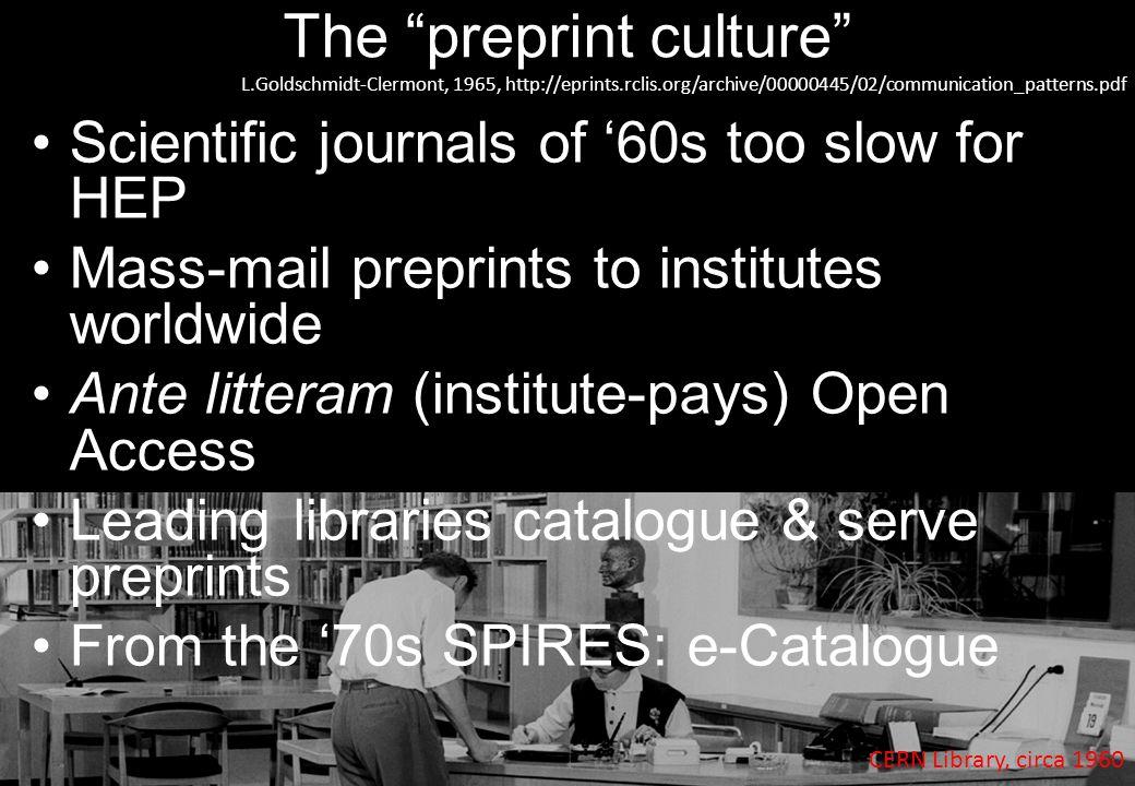 The preprint culture