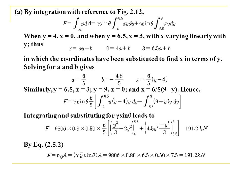 (a) By integration with reference to Fig. 2.12,