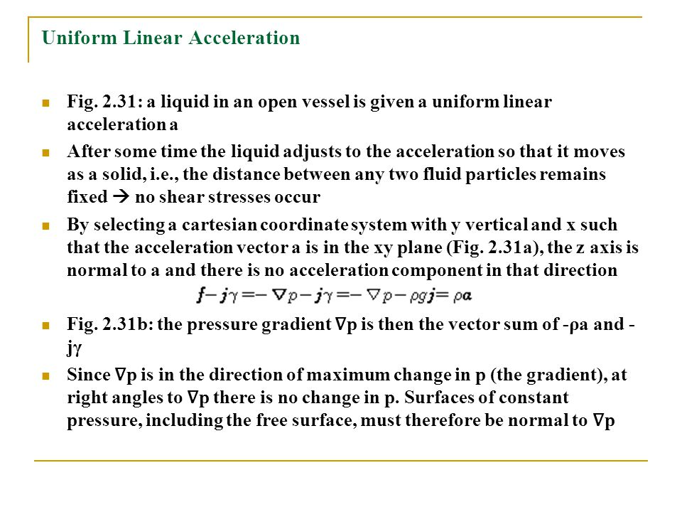 Uniform Linear Acceleration
