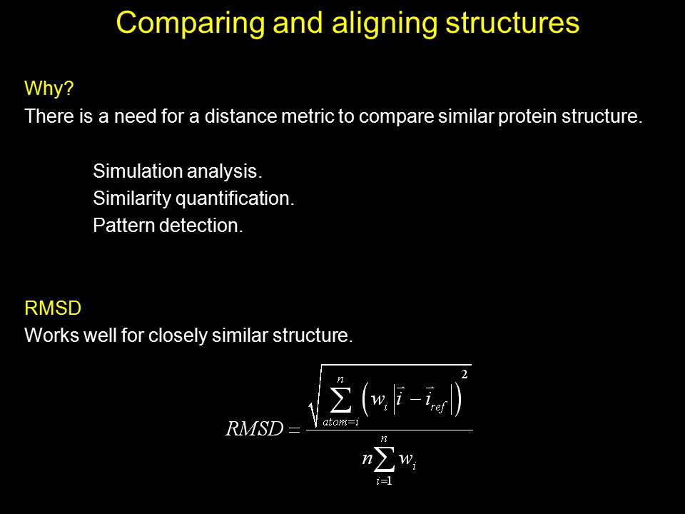 Comparing and aligning structures