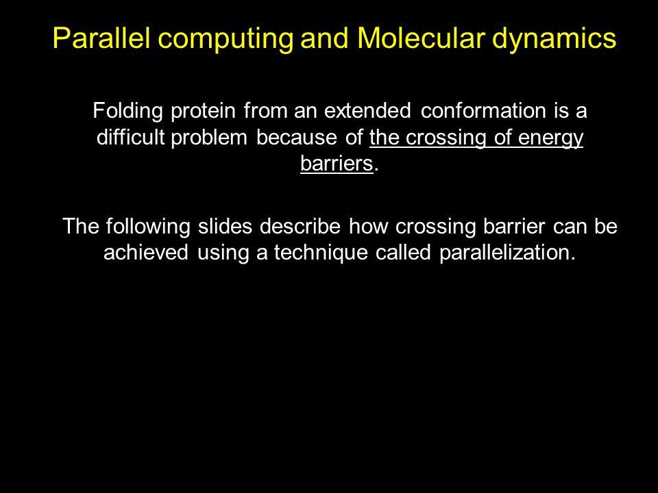 Parallel computing and Molecular dynamics