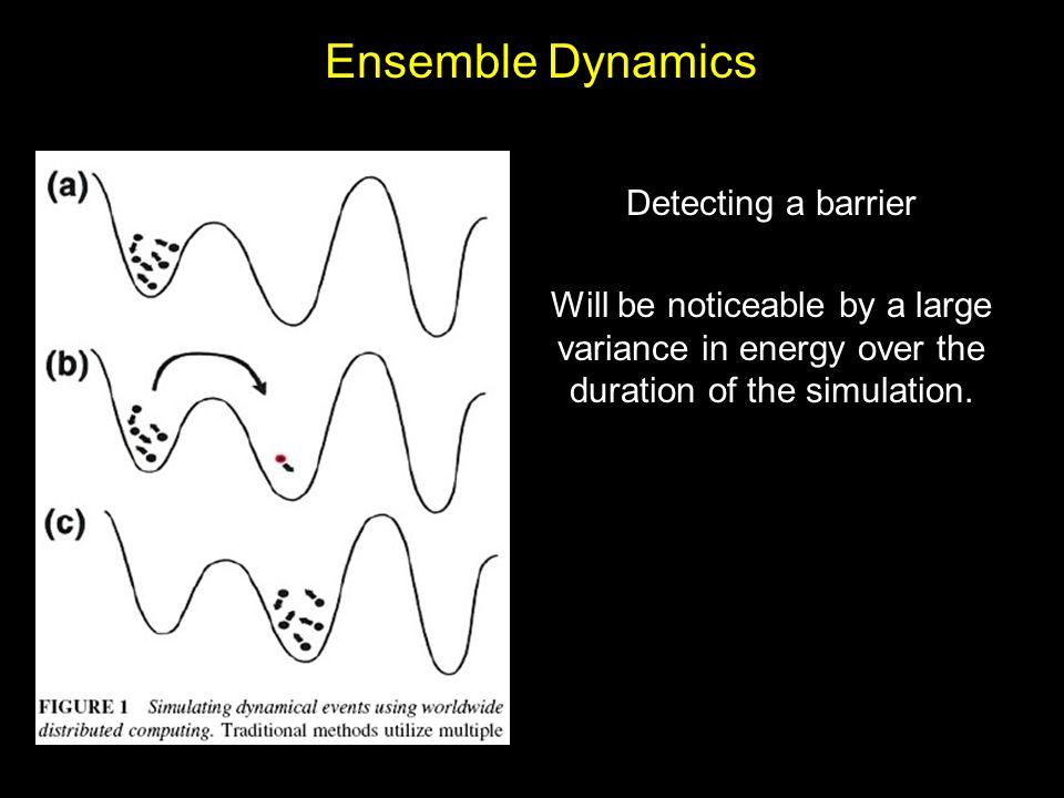 Ensemble Dynamics Detecting a barrier