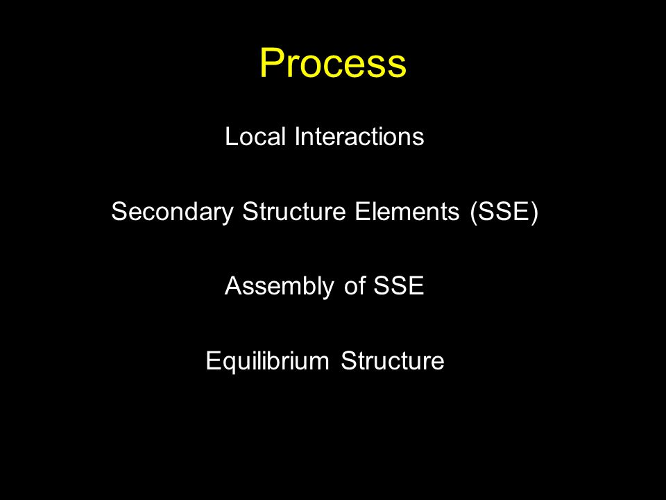 Process Local Interactions Secondary Structure Elements (SSE)