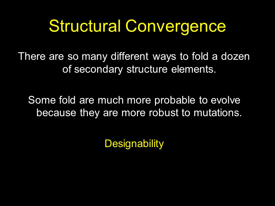 Structural Convergence
