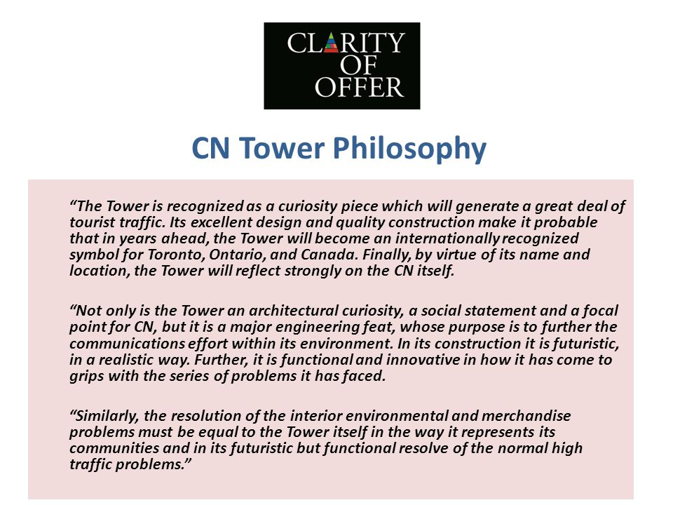 CN Tower Philosophy