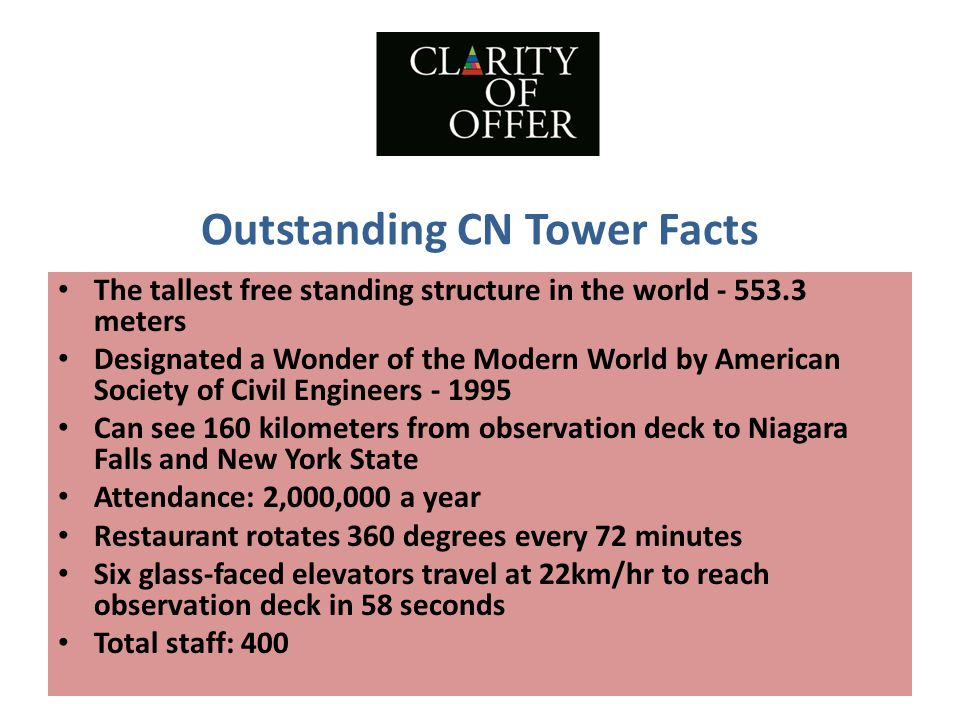Outstanding CN Tower Facts