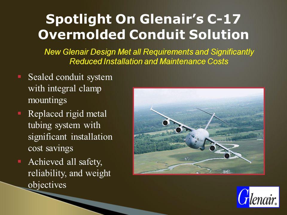 Spotlight On Glenair's C-17 Overmolded Conduit Solution