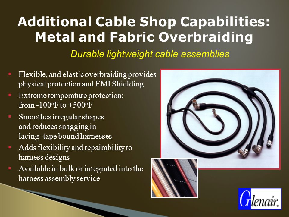Additional Cable Shop Capabilities: Metal and Fabric Overbraiding