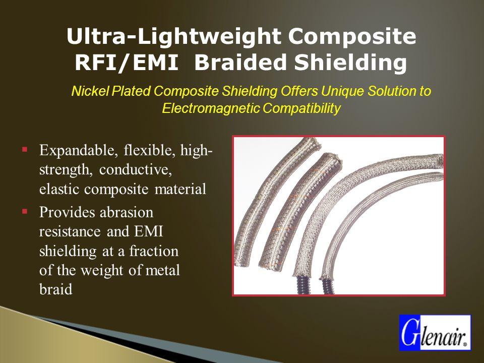 Ultra-Lightweight Composite RFI/EMI Braided Shielding