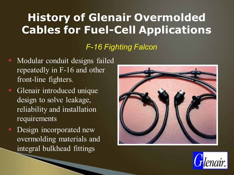 History of Glenair Overmolded Cables for Fuel-Cell Applications