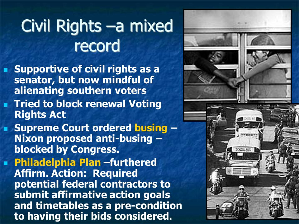 Civil Rights –a mixed record