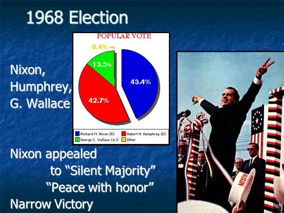 1968 Election Nixon, Humphrey, G. Wallace Nixon appealed