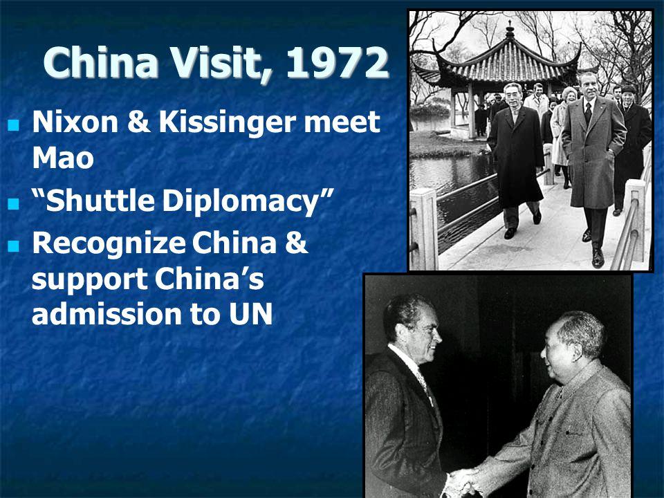 China Visit, 1972 Nixon & Kissinger meet Mao Shuttle Diplomacy
