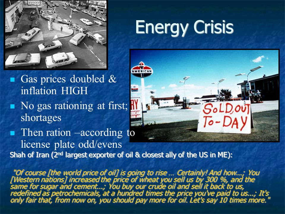 Energy Crisis Gas prices doubled & inflation HIGH