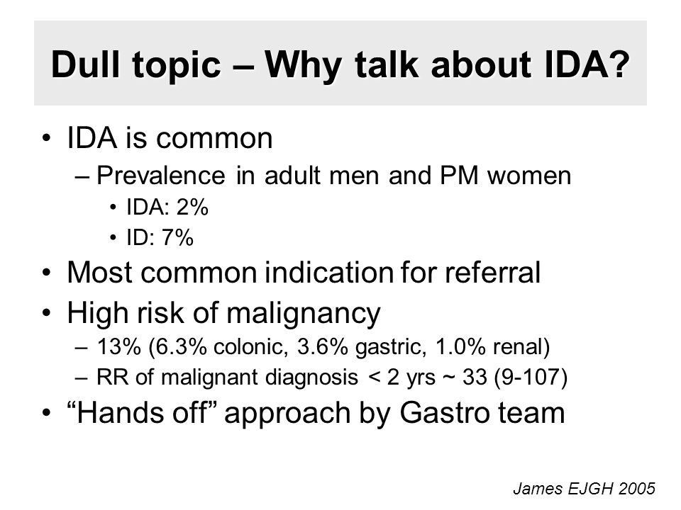 Dull topic – Why talk about IDA