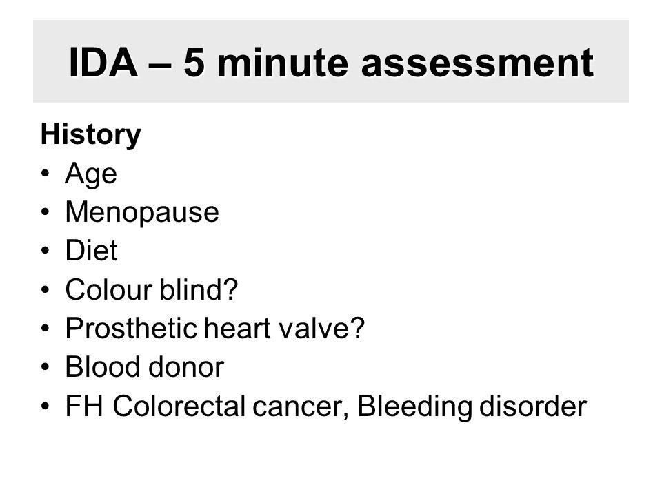 IDA – 5 minute assessment