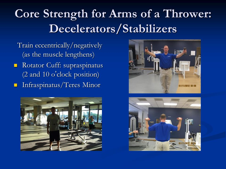 Core Strength for Arms of a Thrower: Decelerators/Stabilizers