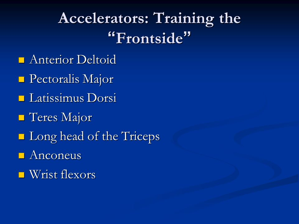 Accelerators: Training the Frontside