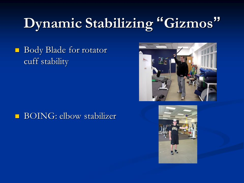 Dynamic Stabilizing Gizmos