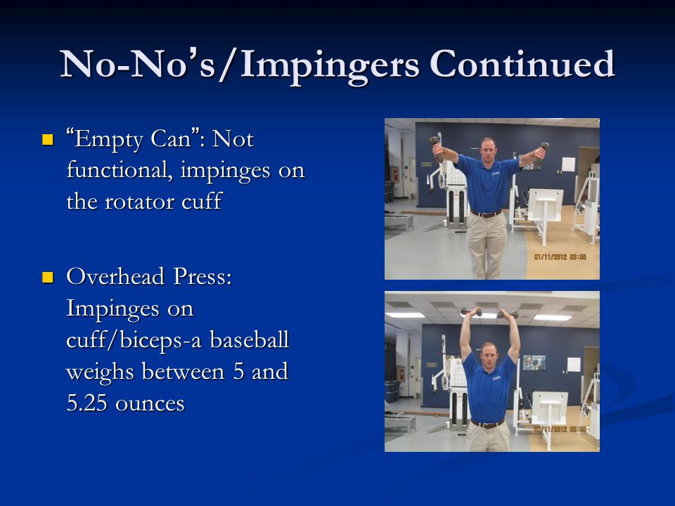No-No's/Impingers Continued