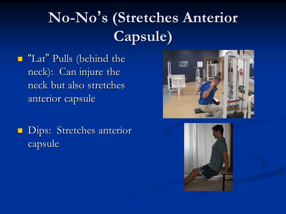 No-No's (Stretches Anterior Capsule)