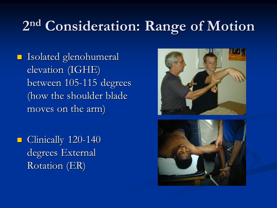 2nd Consideration: Range of Motion