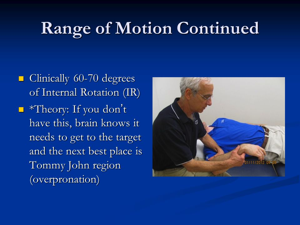 Range of Motion Continued