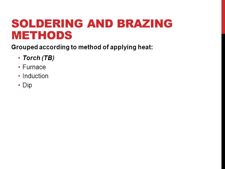 Soldering and Brazing Methods