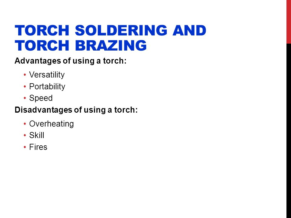Torch Soldering and Torch Brazing