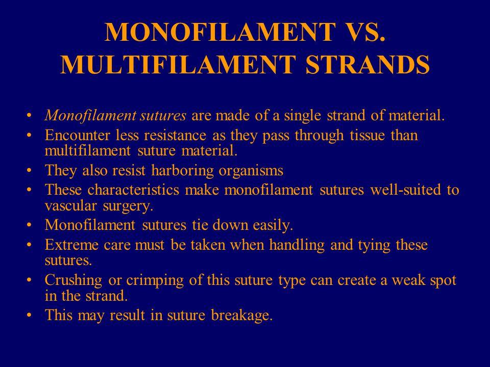 MONOFILAMENT VS. MULTIFILAMENT STRANDS