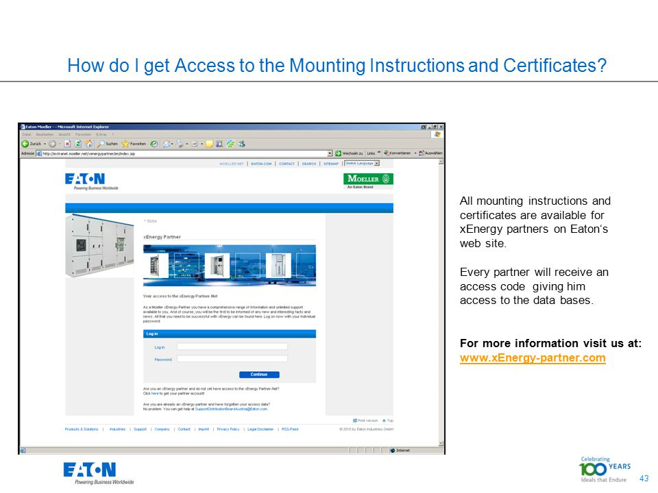 How do I get Access to the Mounting Instructions and Certificates