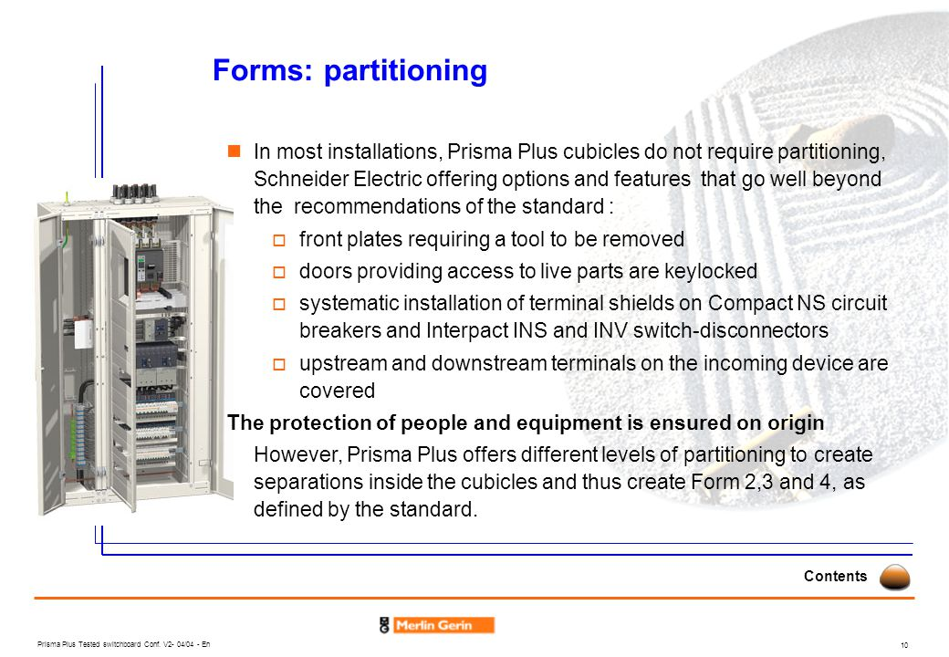 Forms: partitioning