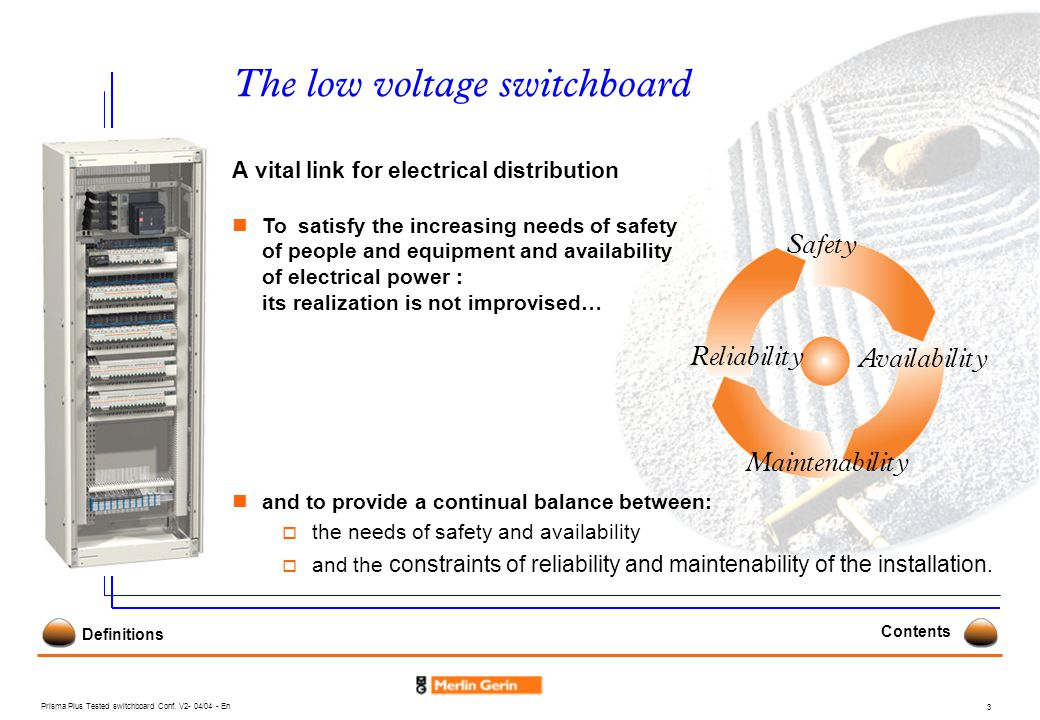 The low voltage switchboard
