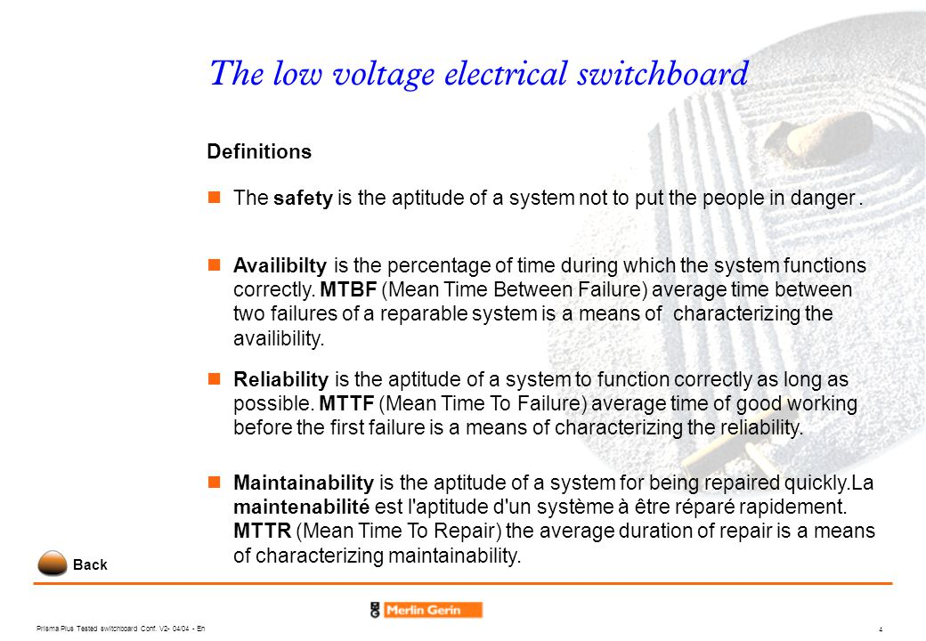 The low voltage electrical switchboard