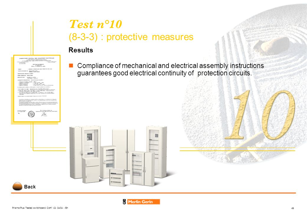 Test n°10 (8-3-3) : protective measures