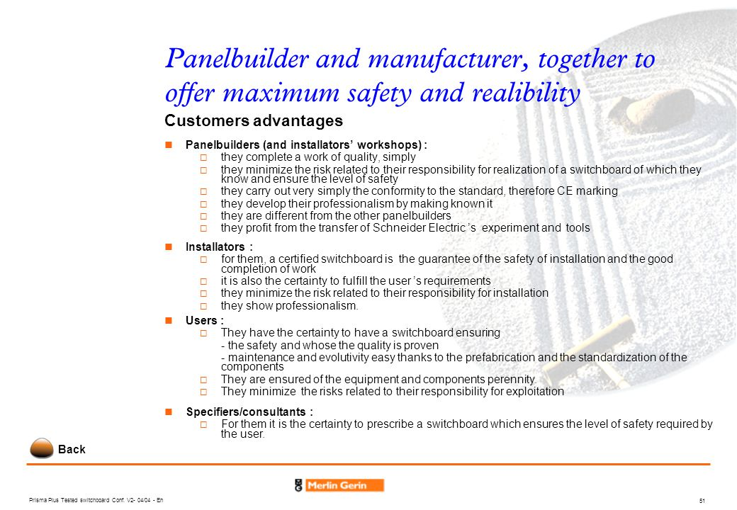Panelbuilder and manufacturer, together to offer maximum safety and realibility