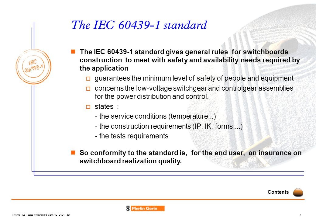 The IEC 60439-1 standard